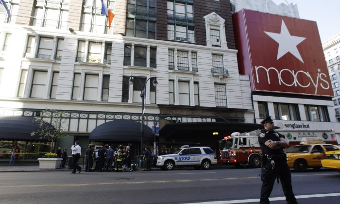The Macy's store in Herald Square in Manhattan, New York, on April 4, 2012. (AP Photo/Frank Franklin II)