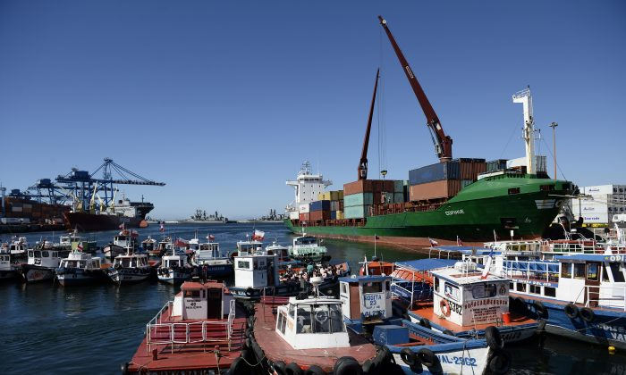 The port of the city of Valparaiso, Chile, on Jan. 22, 2014. (Franck Fife/AFP/Getty Images)