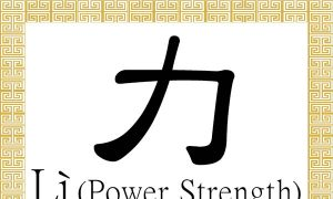 Chinese Character for Power, Strength: Lì (力)