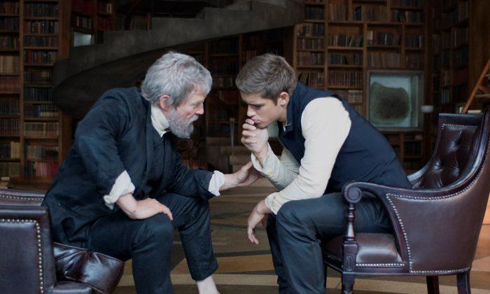 """Jeff Bridges and Brenton Thwaites in """"The Giver."""" (Weinstein Co.)"""