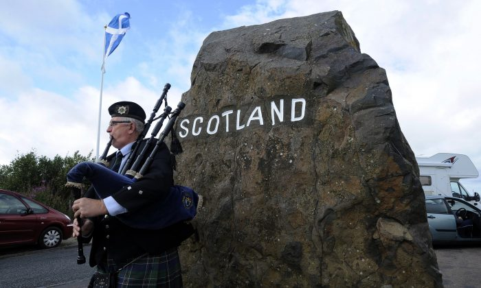 The border between Scotland and England on Aug. 17, 2104. (Andy Buchanan/AFP/Getty Images)