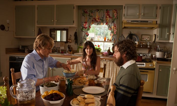 """Owen Wilson, Laura Ramsey, and Zach Galifianakis in """"Are You Here."""" (Millennium Entertainment)"""