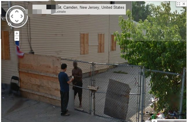 Google Maps Street View may have caught a drug deal going down in New Jersey, according to reports this week.