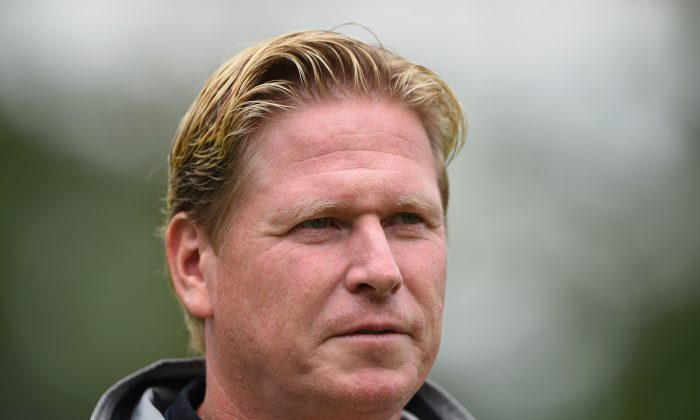 Markus Gisdol, head coach of Hoffenheim looks on during the DFB Pokal first round match between USC Paloma and 1899 Hoffenheim on August 17, 2014 in Hamburg, Germany. (Photo by Stuart Franklin/Bongarts/Getty Images)