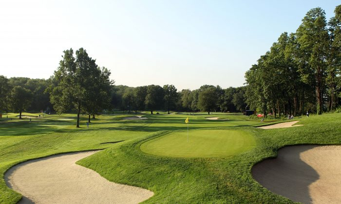 A scenic general view of the fifth green during the first round of The Barclays at the Ridgewood Country Club on August 26, 2010 in Paramus, New Jersey. (Scott Halleran/Getty Images)
