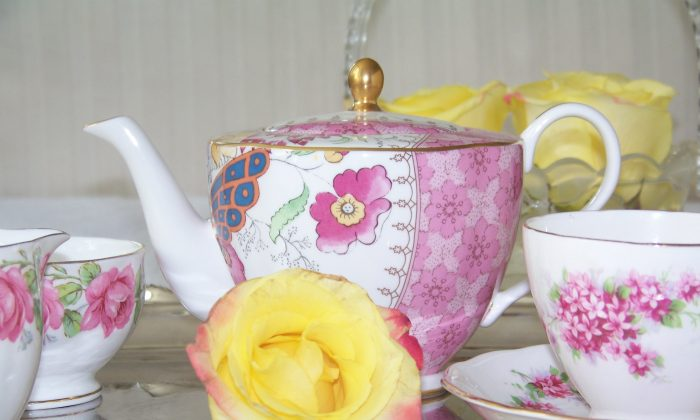 A tea service set out for afternoon tea. (Anne Pillsbury)