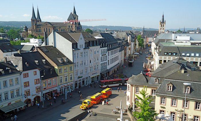 City centre, modern Trier (Susan James)