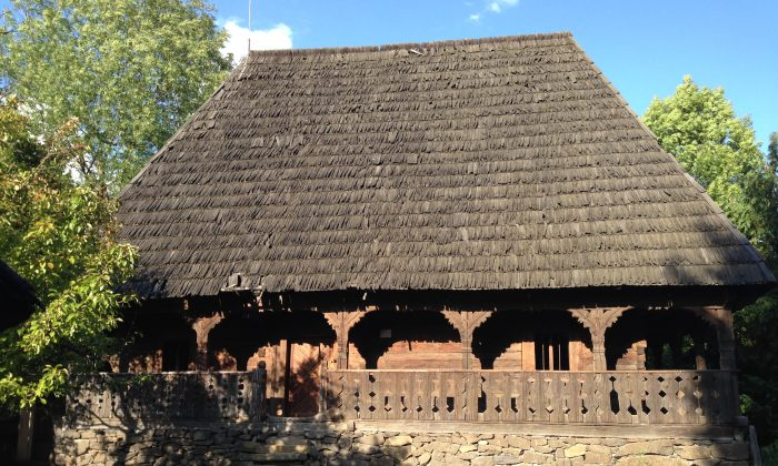 Wooden house from the mountainous region of Maramures, Romania. Displayed at The Ethnographic Museum of Maramures, Sighetu Marmatiei, Romania. (Kati Vereshaka/EpochTimes)