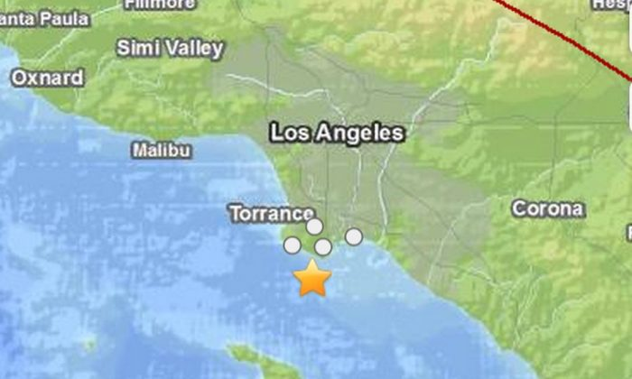 An earthquake hit near LA on Sunday night.