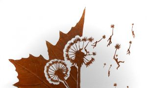 Artist Carefully Cuts Fragile Leaves Into Intricate Scenes (Photo Gallery)