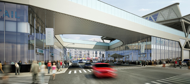Rendering of GWB Marketplace Looking South on Broadway. (PANYNJ)