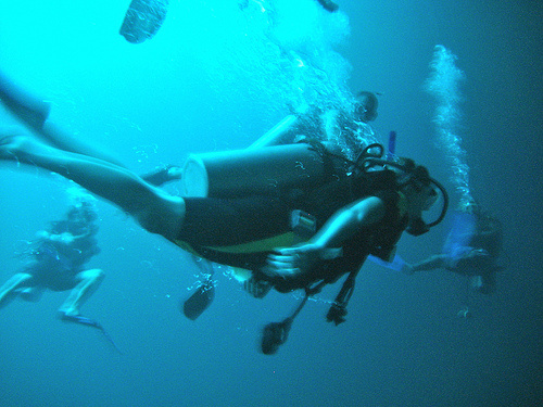 Diving in the Blue Hole (Kristin Addis, Be My Travel Muse)