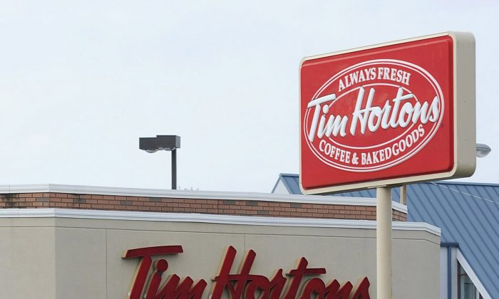 A stock photo of a Tim Hortons (Erie Times-News, Christopher Millette/AP Photo)