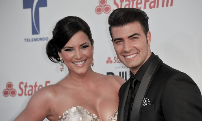 Jencarlos Canela, left, and Gaby Espino attend the 2012 Billboard Mexican Music Awards at the Shrine Auditorium on Thursday, Oct. 18, 2012, in Los Angeles. (Photo by Richard Shotwell/Invision/AP)