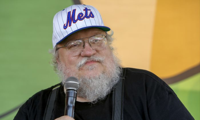 """Author, George R. R. Martin (""""A Game of Thrones"""") appearance at Courtyard's Super Hero HQ at Comic-Con on Sunday, July 27th, 2014 in San Diego, CA. (Photo by Christy Radecic/Invision for Courtyard by Marriott/AP Images)"""