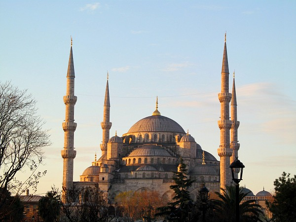 The gorgeous Blue Mosque in the early morning light (Traveling Ted)