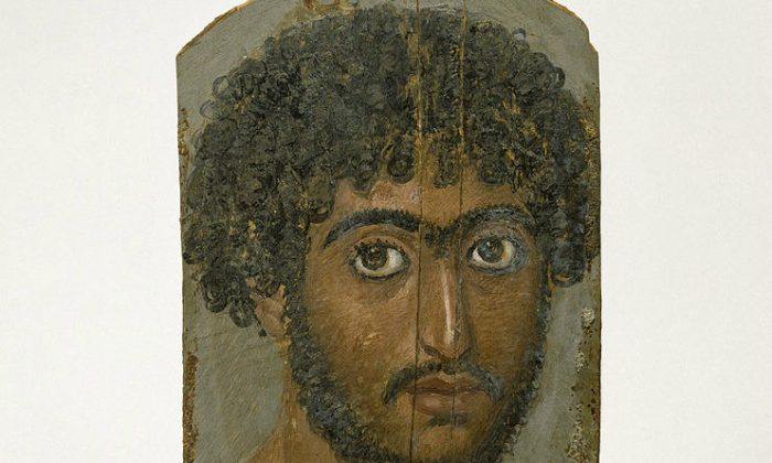 Mummy Portrait of a Bearded Man (ca. AD 170-180). Walters Art Museum. (Wikimedia Commons)