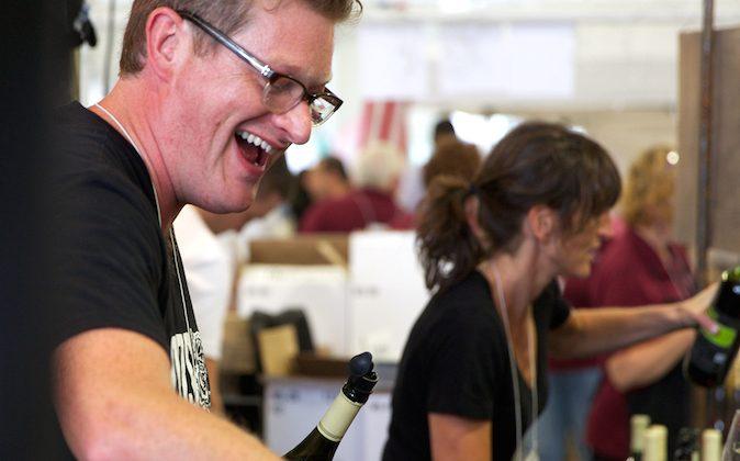 Ben Peacock, owner of Tousey Winery in Germantown, N.Y., at last year's festival (Kelly Nulty)