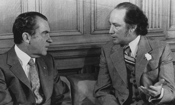 U.S. President Richard Nixon and Prime Minister Pierre Trudeau   (The Canadian Press/Chuck Mitchell)