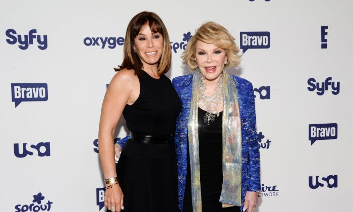 Melissa Rivers, left, and Joan Rivers attend the NBCUniversal Cable Entertainment 2014 Upfront at the Javits Center on Thursday, May 15, 2014, in New York. (Photo by Evan Agostini/Invision/AP)