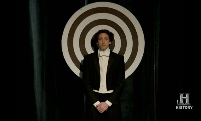 "Adrien Brody as escape artist Houdini in the History Channel miniseries ""Houdini."" (Repertoire Films/History Channel)"
