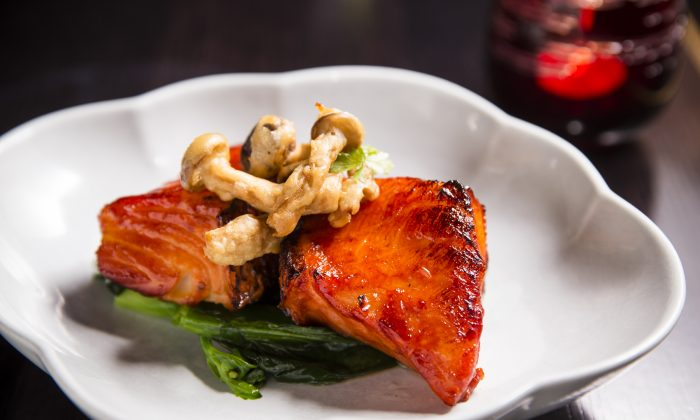 Grilled Chilean Sea Bass with Chinese honey. (Edward Dai/Epoch Times Staff)