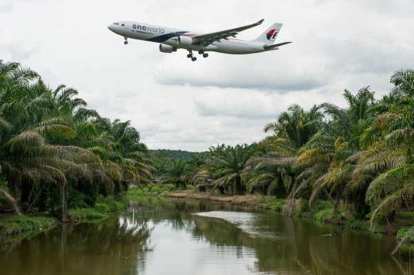 A Malaysia Airlines plane prepares to land at the Kuala Lumpur International Airport in Sepang, outside Kuala Lumpur on August 27, 2014. (Mohd Rasfan/AFP/Getty Images)
