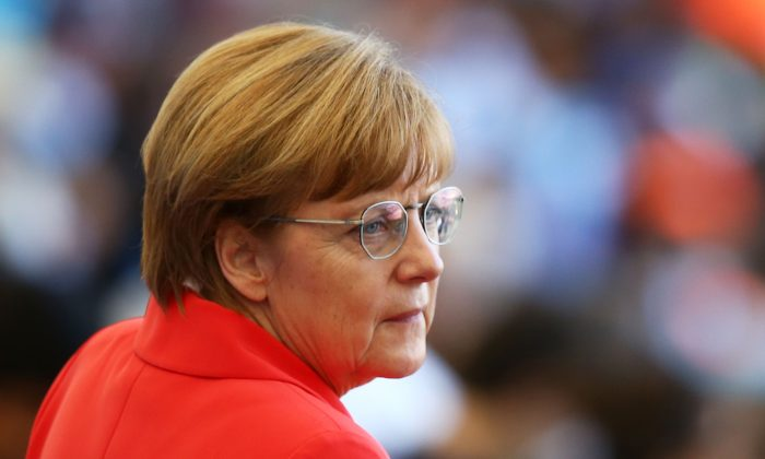 German Chancellor Angela Merkel in Rio de Janeiro, Brazil, on July 13, 2014. (Robert Cianflone/Getty Images)