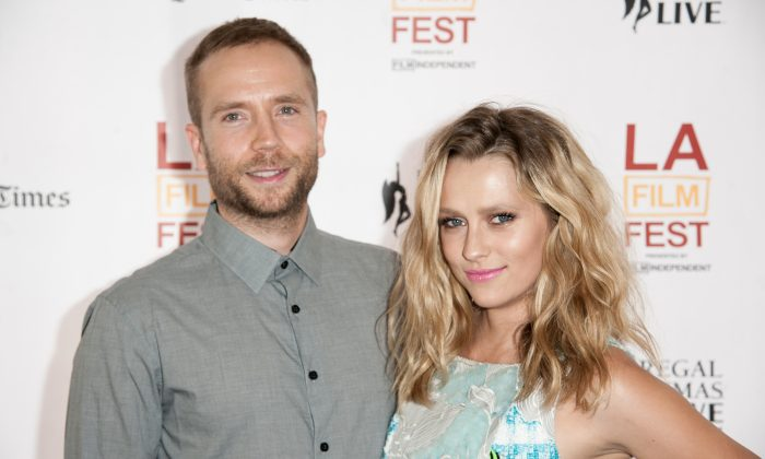 "Mark Webber, left, and Teresa Palmer arrive at the 2014 Los Angeles Film Festival - ""The Ever After"" Premiere on Thursday, June 12, 2014 in Los Angeles.  (Richard Shotwell/Invision/AP)"