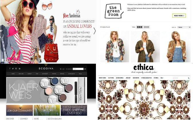 Top 20 Eco Fashion and Beauty shopping sites curated by Eluxe Magazine