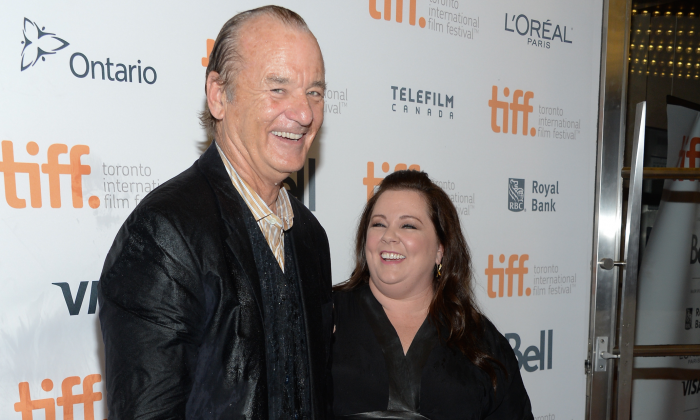 "Actors Bill Murray and Melissa McCarthy arrive at the ""St. Vincent"" premiere during the Toronto International Film Festival on Sept. 5, 2014, in Toronto. (Evan Agostini/Invision/AP Photo)"