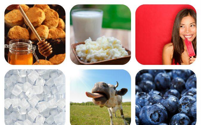 Blueberry Cheesecake Ice Cream collage. (Shutterstock*)