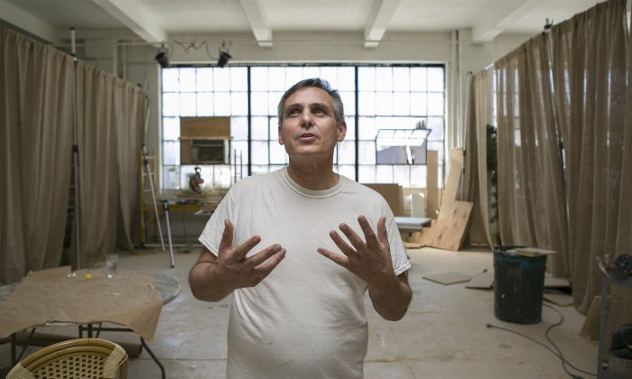 Jacques Rosas at Shop Studios in Manhattan on Sept. 4, 2014. (Samira Bouaou/Epoch Times)