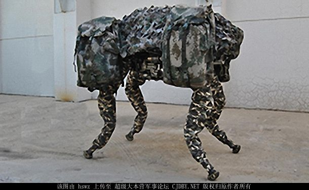The counterfeit Big Dog robot from Chins's state-run NORINCO was recently shown at a robotics expo. (cjdby.net)