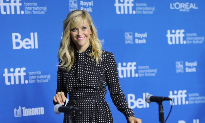 """Reese Witherspoon attends the press conference for """"The Good Lie"""" on day 5 of the Toronto International Film Festival at the TIFF Bell Lightbox on Monday, Sept. 8, 2014, in Toronto. (Photo by Evan Agostini/Invision/AP)"""