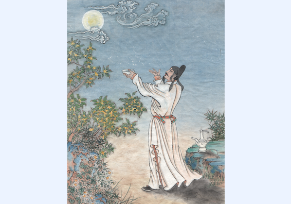 """""""May human beings be blessed with longevity! Although a thousand miles apart, all can share the moon's beauty together."""" These lines from Su Shi, a poet from the Song Dynasty, have been widely used during the Mid-Autumn Festival. (Jane Ku/Epoch Times)"""