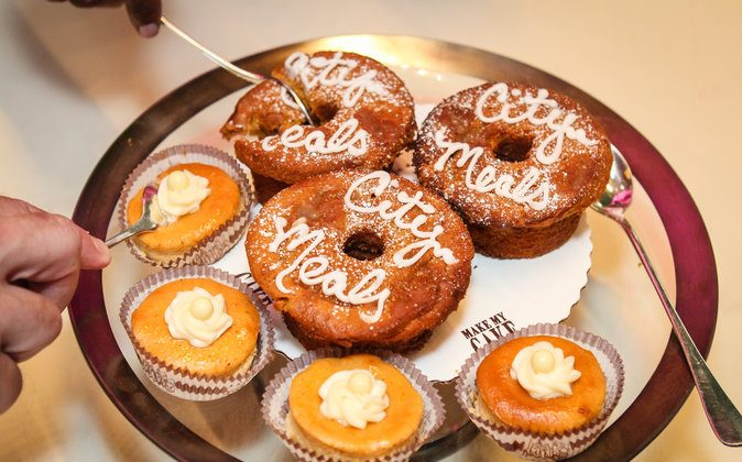 """""""Citymeals Cupcakes"""" and Sweet Potato Pound Cake from Make My Cake. (ERIC VITALE PHOTOGRAPHY)"""