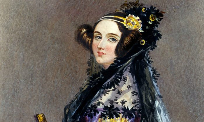 Watercolor portrait of Ada Lovelace (née Ada Byron), a computing pioneer, by Alfred Edward Chalon. (Sir Henry Norris/Wikimedia Commons)