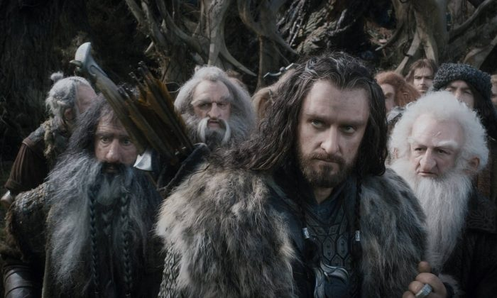 A screen still from a scene in The Hobbit. (Warner Bros.)