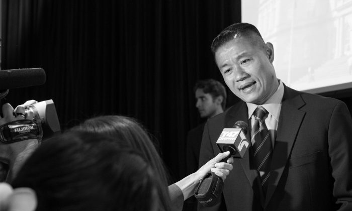 John Liu in Manhattan in 2012. He said Tuesday to the Daily News that he would concede to incumbent Senator Tony Avella. (Benjamin Chasteen/The Epoch Times)