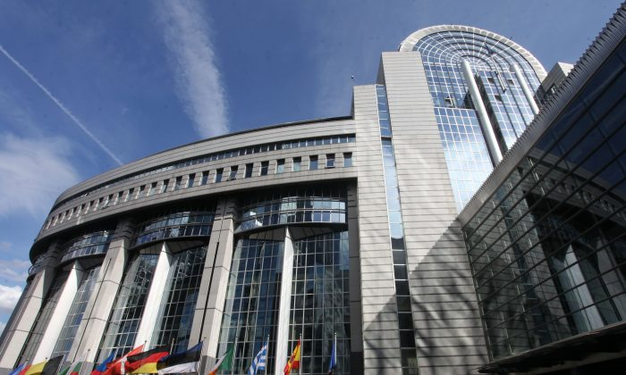 A general view of the exterior of the European Parliament building on August 16, 2011 in Brussels, Belgium. (Mark Renders/Getty Images)