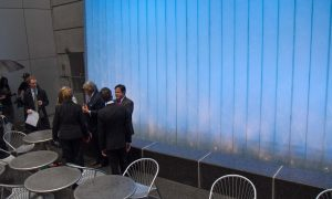 MTA Deflects Noise Pollution With Waterfall at Pocket Park