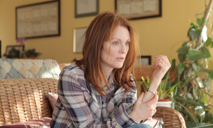 Julianne Moore's heartbreaking portrayal of Columbia linguistics professor Dr. Alice Howland captures the devastating impact of Alzheimer's disease but moves beyond being depressing. (Courtesy TIFF)