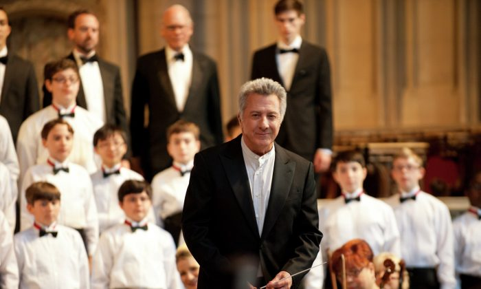 "Dustin Hoffman stars as a demanding choirmaster to a troubled boy in Canadian director François Girard's latest film ""Boychoir."" (Courtesy TIFF)"