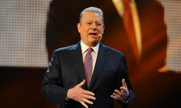 Al Gore speaks at an event in London, England, on March 7. (Anthony Harvey/Getty Images for Free The Children)