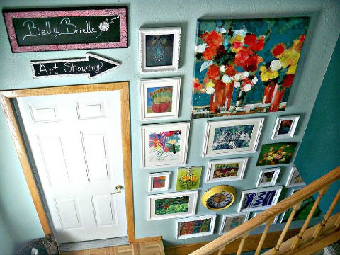 Art Gallery Wall via Hometalker Quirky Cool