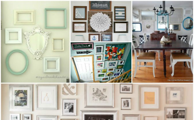 Turn your empty walls into impressive gallery walls with these 10 easy to do ideas (Hometalk.com)
