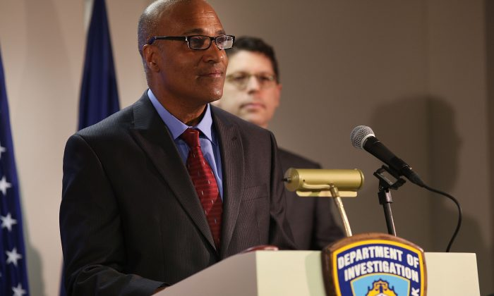 Philip Eure at a news conference as he is named the new inspector general for the New York Police Department (NYPD) in New York City on March 28, 2014. (Spencer Platt/Getty Images)