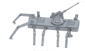 Monstrous Gun-Mounted Robot Spiders Proposed for China's Military