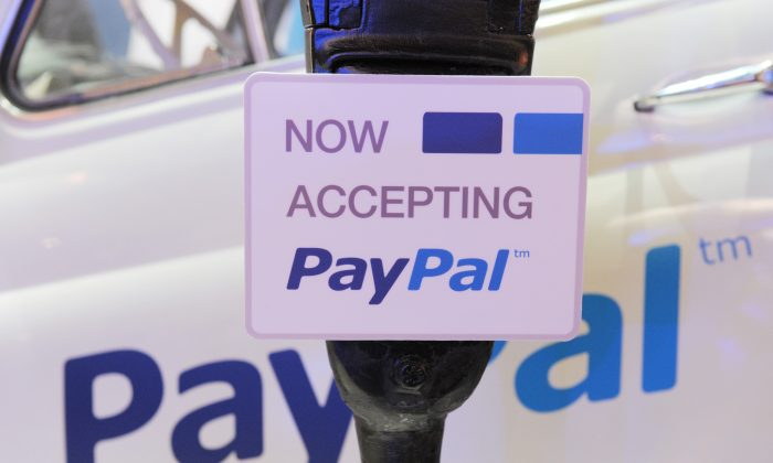 A PayPal sign at the LeWeb expo in Paris, on Dec. 5, 2012. (Eric Piermont/AFP/Getty Images)